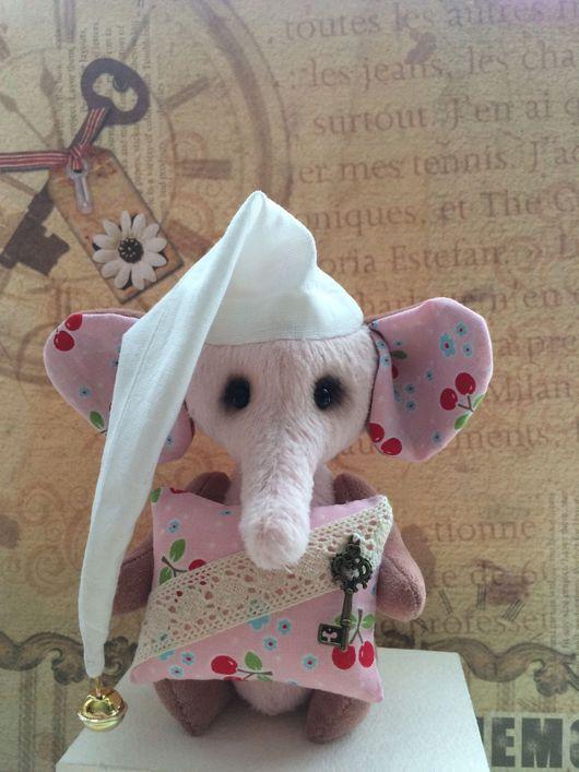 Мишки Тедди ручной работы. Ярмарка Мастеров - ручная работа. Купить Вишневый слон. Handmade. Сонный слон, друзья тедди