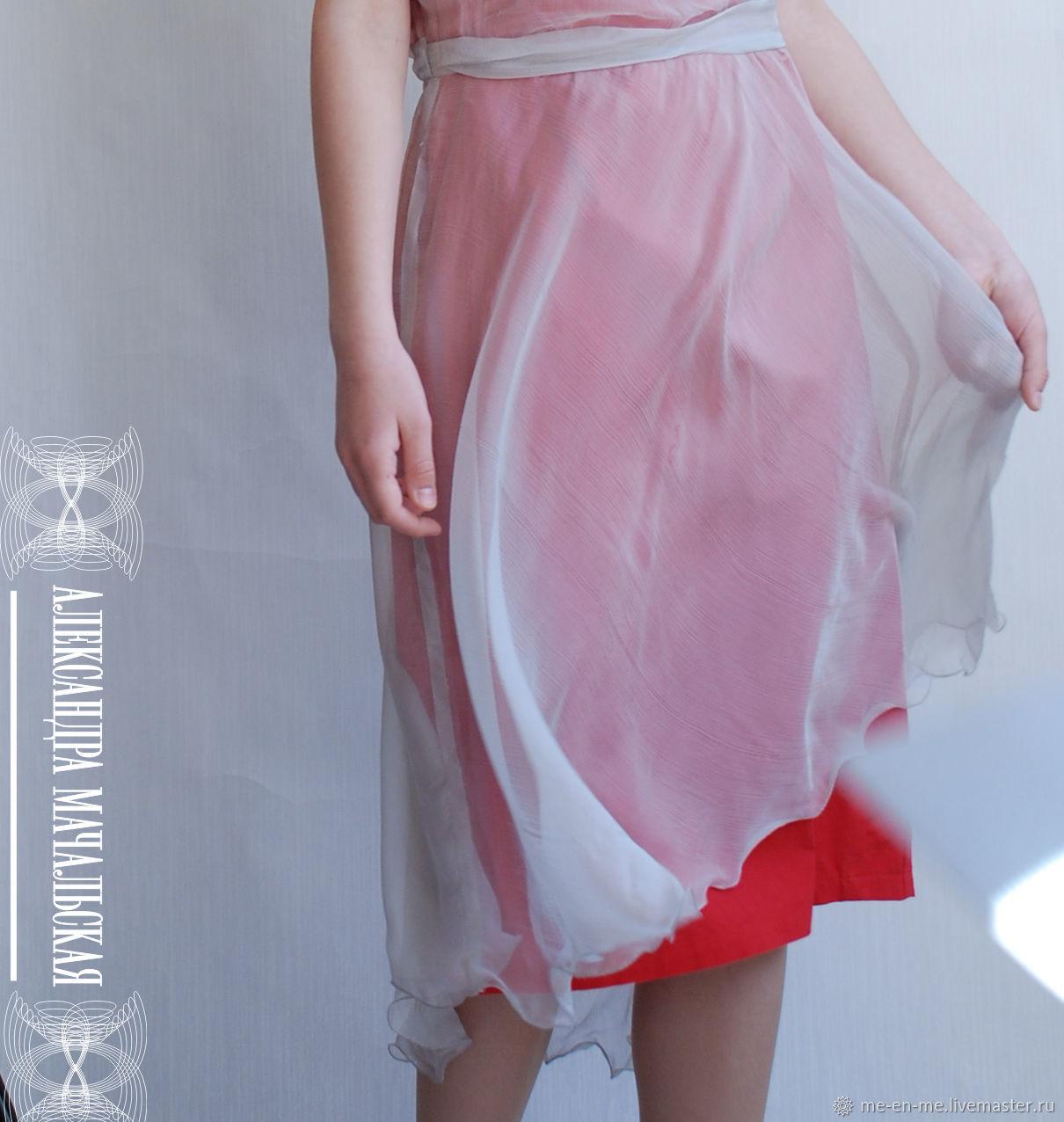 Платье из натурального шёлка красное, Платья, Пенза,  Фото №1