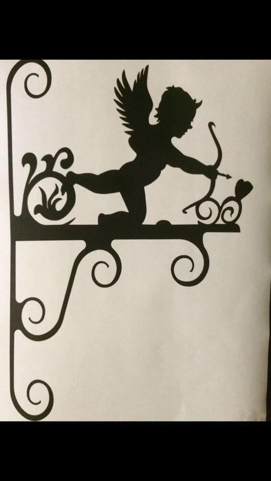 Экстерьер и дача ручной работы. Ярмарка Мастеров - ручная работа. Купить Кронштейн для кашпо Амур. Handmade. Кронштейн, кашпо, Амур