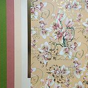 """Бумага ручной работы. Ярмарка Мастеров - ручная работа """"Розовая орхидея"""" - набор бумаги для Ваших идей. Handmade."""