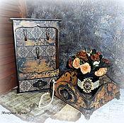 """Для дома и интерьера ручной работы. Ярмарка Мастеров - ручная работа Набор для прихожей """"Осенний Модерн"""" единственный экземпляр.. Handmade."""