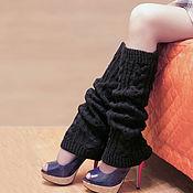 Аксессуары ручной работы. Ярмарка Мастеров - ручная работа Гетры с косами, свободные со складками вязаные спицами. Handmade.