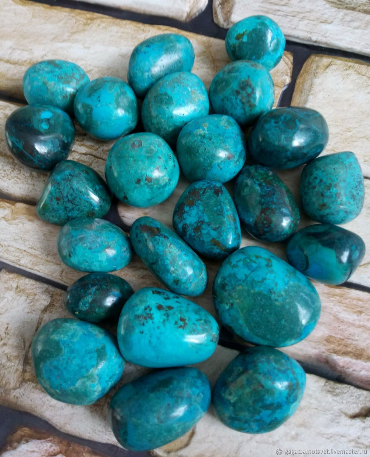 Chrysocolla, chrysocolla with malachite,cuprite ( Peru), Minerals, St. Petersburg,  Фото №1