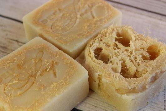 Эвкалипт с ментолом натуральное мыло-мочалка с нуля