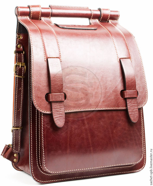 """Рюкзаки ручной работы. Ярмарка Мастеров - ручная работа. Купить Кожаный рюкзак """"Кельт"""" коричневый. Handmade. Коричневый, рюкзак кожа"""