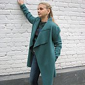 Одежда handmade. Livemaster - original item Light coat made of loden clothes - Dark mint. Handmade.