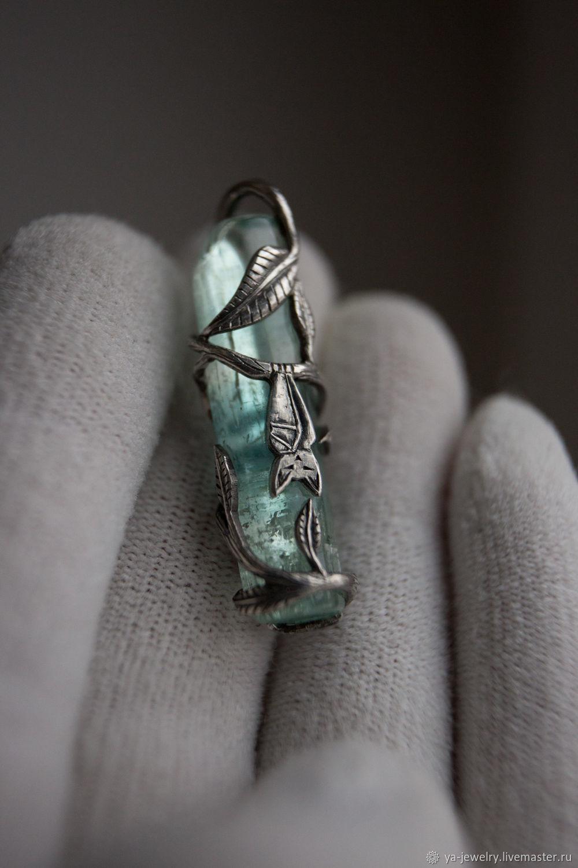 Aquamarine crystal framed by your totem animal, Pendant, Surgut,  Фото №1