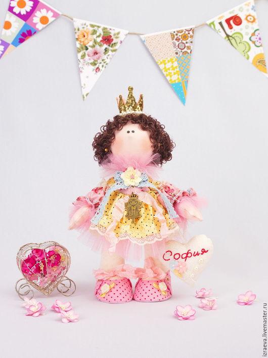 Коллекционные куклы ручной работы. Ярмарка Мастеров - ручная работа. Купить Интерьерная кукла. Принцесса Софи. Handmade. Комбинированный, хлопок