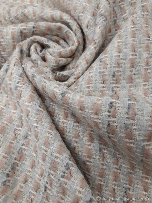 Chanel tweed in pastel shades, Fabric, Moscow,  Фото №1