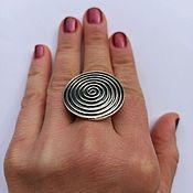 Кольца ручной работы. Ярмарка Мастеров - ручная работа Кольцо Спираль крупная. Серебро стерлинговое. Handmade.