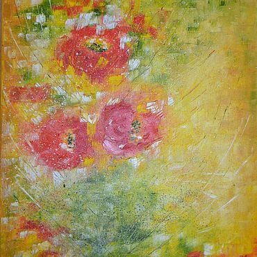 Картины и панно ручной работы. Ярмарка Мастеров - ручная работа Картины: Цветы картина маслом. Handmade.