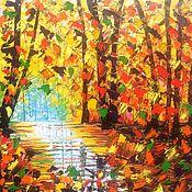 Картины и панно ручной работы. Ярмарка Мастеров - ручная работа Осенний круговорот. Handmade.