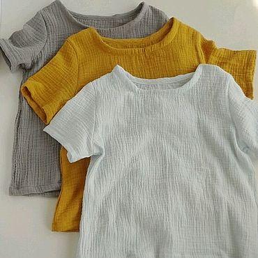 Одежда ручной работы. Ярмарка Мастеров - ручная работа Муслиновая футболка. Handmade.