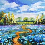 Картины и панно handmade. Livemaster - original item The blue poppies (meconopsis). Handmade.
