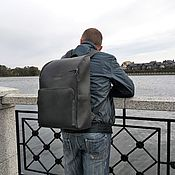 Сумки и аксессуары handmade. Livemaster - original item M0130 leather Backpack for men. Handmade.