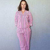 Одежда ручной работы. Ярмарка Мастеров - ручная работа Домашний костюм, пижама в полоску. Handmade.
