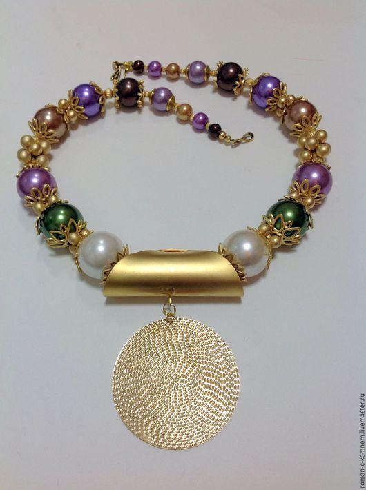 Комплект украшений из искусственного жемчуга в этническом, восточном стиле Блеск гламура. Оригинальный, роскошный подарок для стильных, неординарных женщин и девушек.