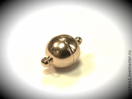 Для украшений ручной работы. Ярмарка Мастеров - ручная работа. Купить Замочек магнитный позолоченный Южная Корея. Handmade. Золотой
