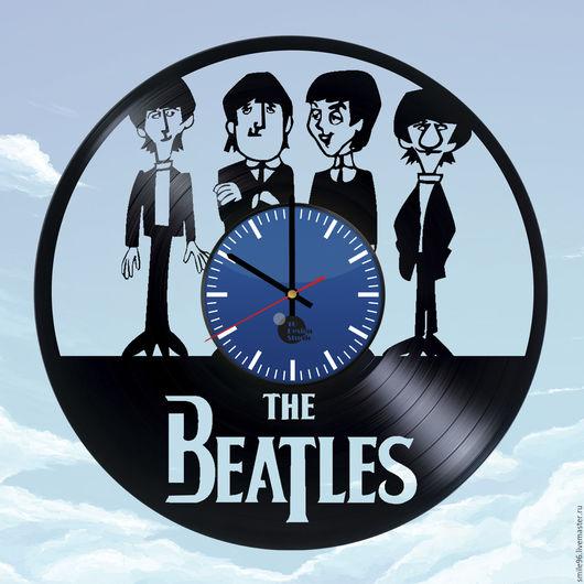 """Часы для дома ручной работы. Ярмарка Мастеров - ручная работа. Купить Часы из пластинки """"The Beatles"""". Handmade. The beatles"""