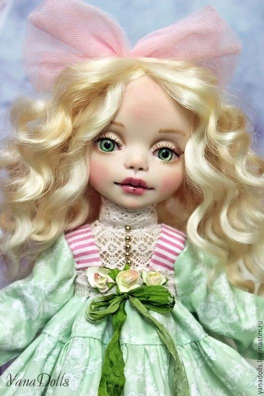 Коллекционные куклы ручной работы. Ярмарка Мастеров - ручная работа. Купить Лиза. Handmade. Мятный, ооак, батист