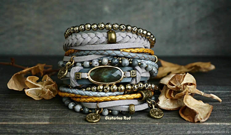 BOHO bracelet with labradorite ' Reflection of distant stars', Bead bracelet, Moscow,  Фото №1