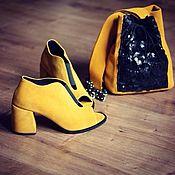 Обувь ручной работы. Ярмарка Мастеров - ручная работа Летние ботильоны с сумкой. Handmade.