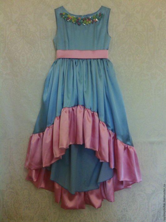 """Одежда для девочек, ручной работы. Ярмарка Мастеров - ручная работа. Купить """"Монпансье"""" Нарядное платье для девочки. Handmade. Розовый"""