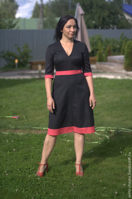 Платья ручной работы. Ярмарка Мастеров - ручная работа. Купить Платье чёрное платье три цвета платье шерсть. Handmade.