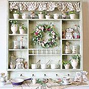 Для дома и интерьера handmade. Livemaster - original item Shelf for the kitchen in the style of Provence Berry strudel. Handmade.