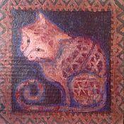 Картины и панно handmade. Livemaster - original item Picture Cat. Handmade.