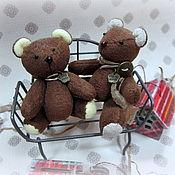 Куклы и игрушки ручной работы. Ярмарка Мастеров - ручная работа Пара мишек Шоколадные. Handmade.