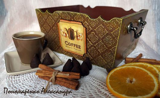 """Кухня ручной работы. Ярмарка Мастеров - ручная работа. Купить Сухарница """"Шоколад и апельсин"""". Handmade. Коричневый, конфетница, для кухни, coffe"""