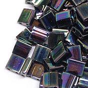 Материалы для творчества ручной работы. Ярмарка Мастеров - ручная работа TILA Miyuki Medium Blue Iris (455) Миюки Тила темная бронза 5 гр.. Handmade.