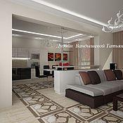 Дизайн и реклама ручной работы. Ярмарка Мастеров - ручная работа Дизайн гостиной комнаты. Handmade.