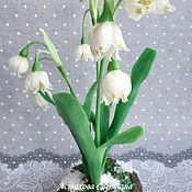 Цветы ручной работы. Ярмарка Мастеров - ручная работа Весенний белоцветник в кашпо. Handmade.