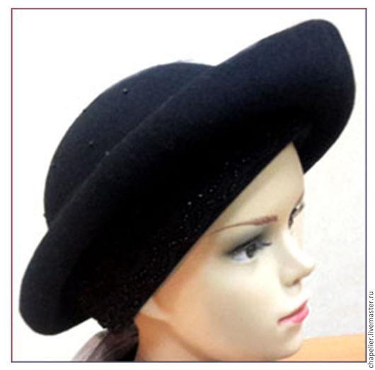 Шляпы ручной работы. Ярмарка Мастеров - ручная работа. Купить Шляпа порадная. Handmade. Черный, утонченность, велюр