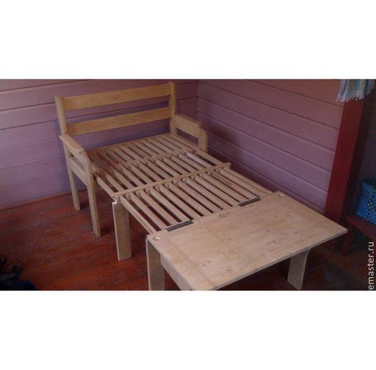 Мебель ручной работы. Ярмарка Мастеров - ручная работа. Купить Скамья-кровать. Handmade. Кровать из дерева, раздвижная кровать