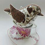 Подарки к праздникам ручной работы. Ярмарка Мастеров - ручная работа Игрушка птичка из ткани 11 на 6 см. Handmade.