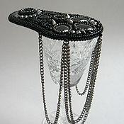 Украшения ручной работы. Ярмарка Мастеров - ручная работа Эполет с цепями черный. Handmade.