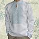 Льняная сорочка с ручной вышивкой Ясень 2. Модная одежда с ручной вышивкой. Творческое ателье Modne-Narodne.
