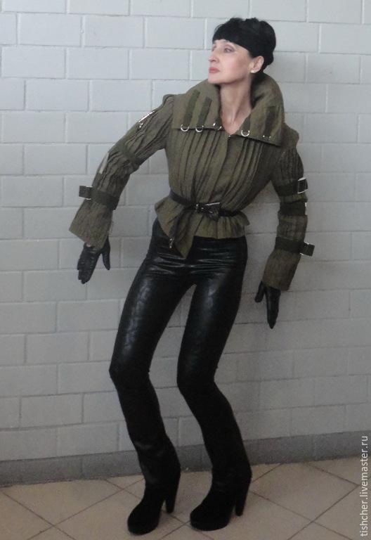 """Верхняя одежда ручной работы. Ярмарка Мастеров - ручная работа. Купить Куртка """"Милитари"""". Handmade. Хаки, рок стиль, спорт"""