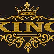 Халаты ручной работы. Ярмарка Мастеров - ручная работа KING и QUEEN дизайнs машинной вышивки. Handmade.