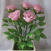 Цветы и флористика ручной работы. Ярмарка Мастеров - ручная работа Розовые розы. Handmade.