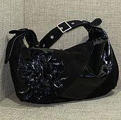 Classic Bag handmade. Livemaster - original item Suede women`s bag CLAUDIA black. Handmade.