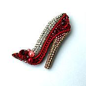 Украшения handmade. Livemaster - original item Brooch-pin: Slipper. Handmade.