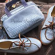 Обувь ручной работы handmade. Livemaster - original item A set of Python - IN STOCK. Shoes and handbag. Handmade.