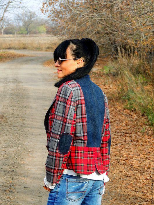 """Пиджаки, жакеты ручной работы. Ярмарка Мастеров - ручная работа. Купить Жакет из шерсти и джинса в стиле """"Офисный БОХО"""""""" (№53). Handmade."""