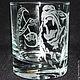 """Бокалы, стаканы ручной работы. Ярмарка Мастеров - ручная работа. Купить Стакан """"Хозяин Тайги"""". Handmade. Медведь, вензеля"""