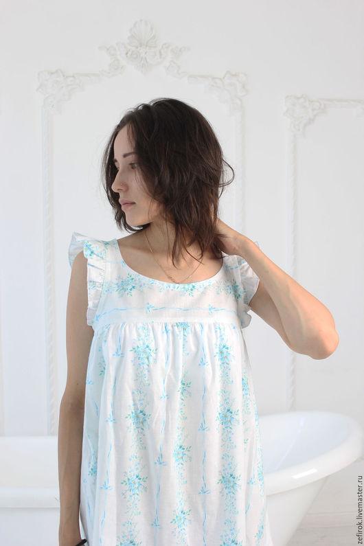 """Белье ручной работы. Ярмарка Мастеров - ручная работа. Купить ночная сорочка """" Вьюнок """". Handmade. Белый"""