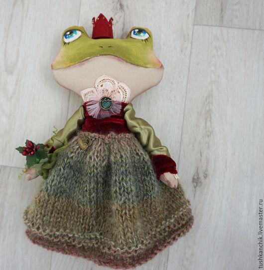 Коллекционные куклы ручной работы. Ярмарка Мастеров - ручная работа. Купить Королевские лягушки. Handmade. Зеленый, украшения ручной работы